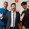Kojima com Ed Boon e Danilo Gentili