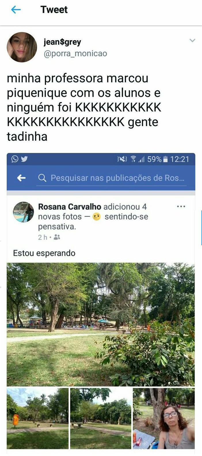 @porra_monicao sobre piquenique da professora Rosana