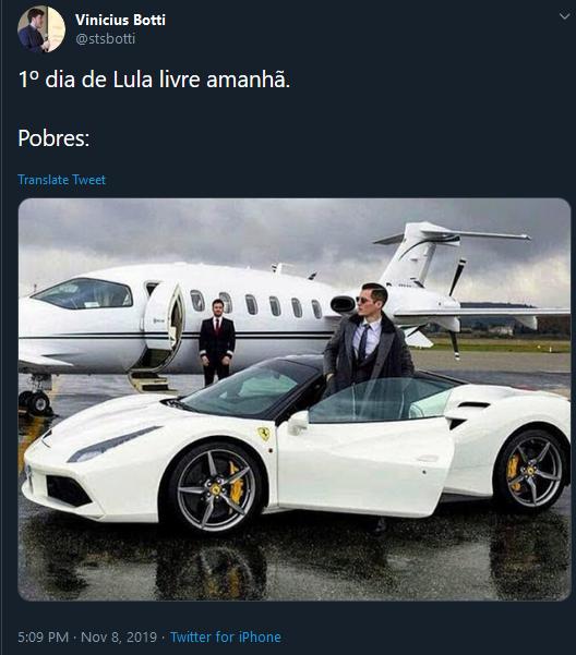Pobre na Ferrari